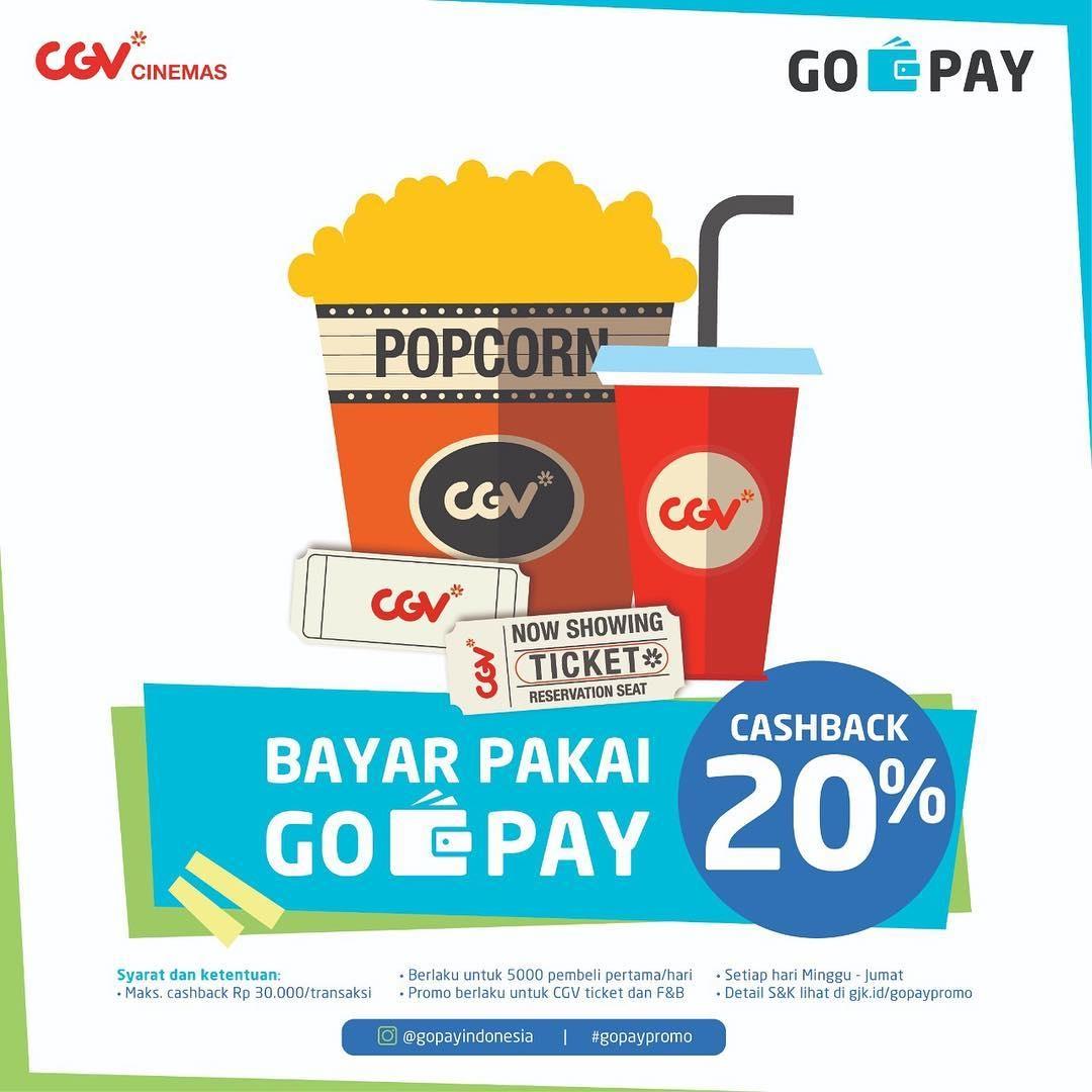 CGV Cinema Promo Spesial Cashback 20% Dengan Gopay