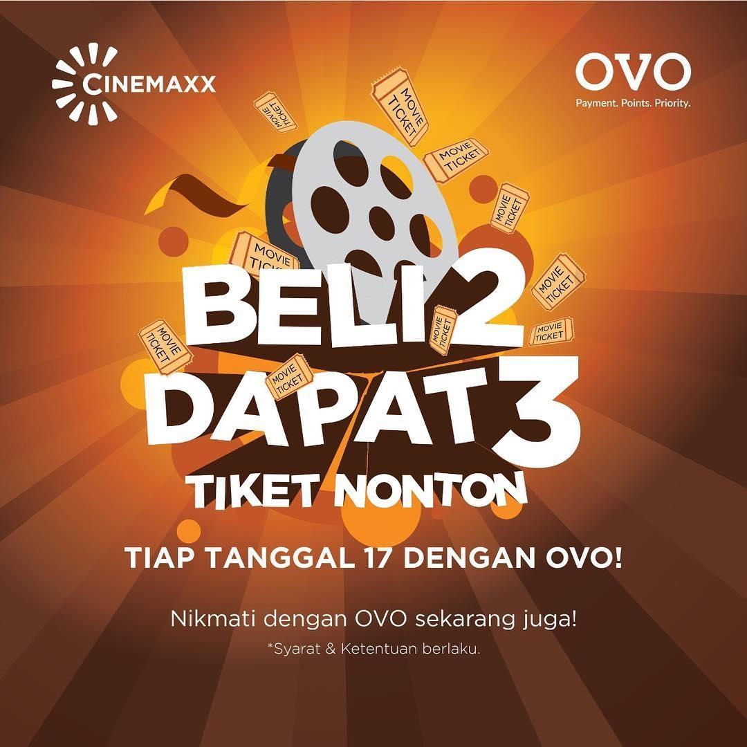 Cinemaxx Theater Promo Merdeka! Buy 2 Get 1 Freee