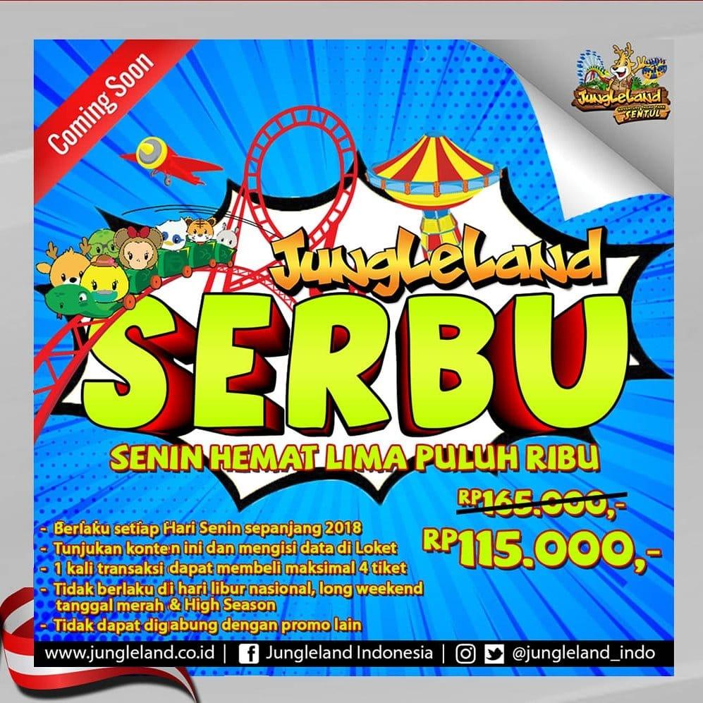 Jungleland Promo Super Serbu! Serba Hemat Diskon Rp. 50.000