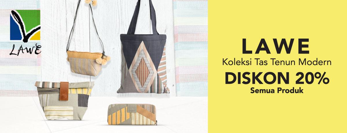 Blibli Promo Koleksi Tas Tenun Modern dari Lawe , Diskon Spesial 20%