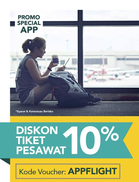 Blibli Promo Tiket Pesawat Murah Meriah Diskon 10