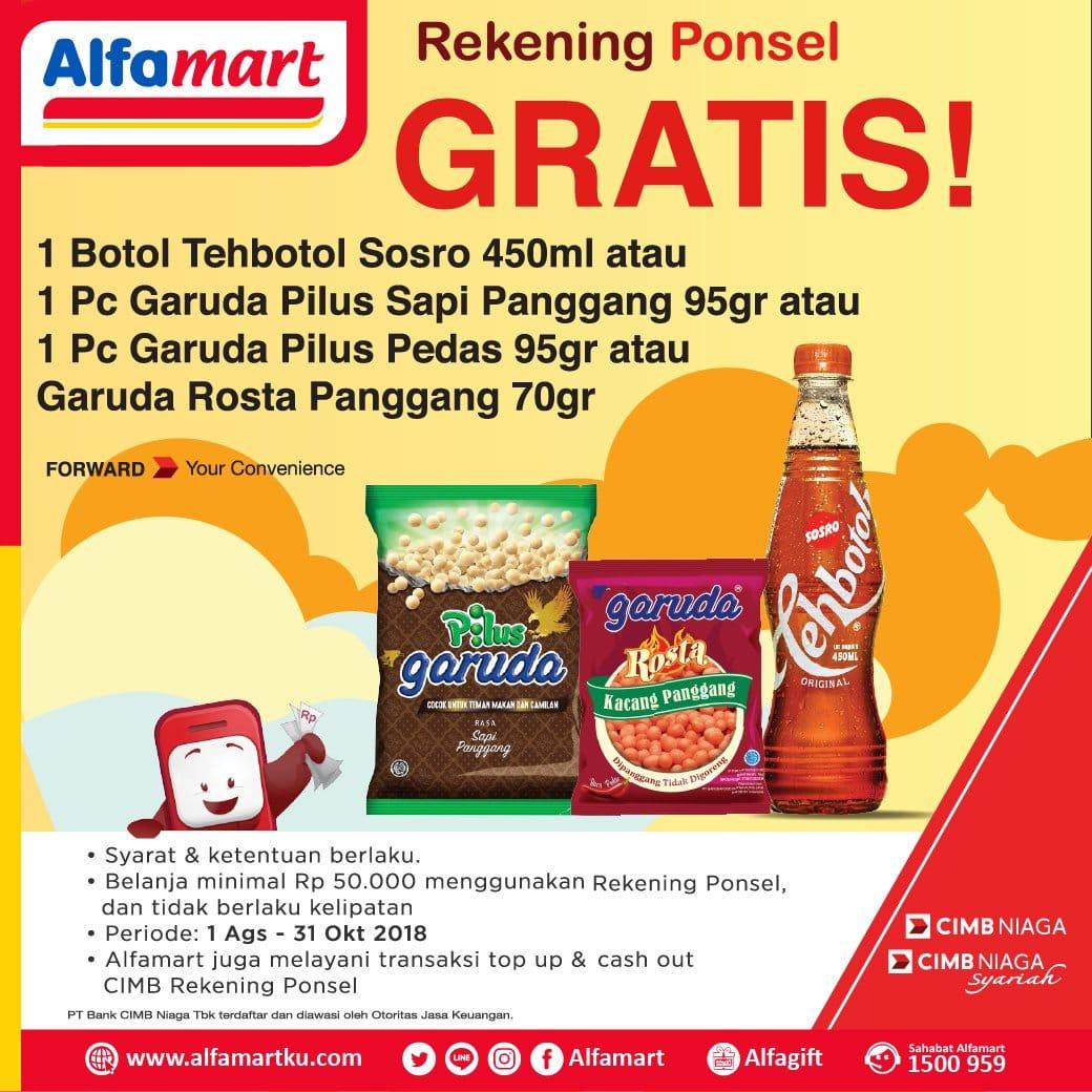 Alfamart Promo Belanja Hemat Dengan Rekening Ponsel! Gratis Produk Pilihan