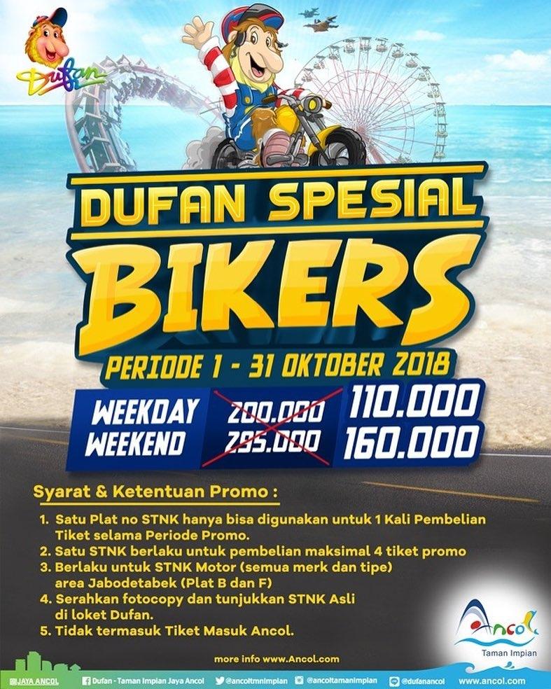 Ancol Dufan Promo Spesial Biker Oktober! Harga Spesial HTM Mulai Dari Rp. 110.000