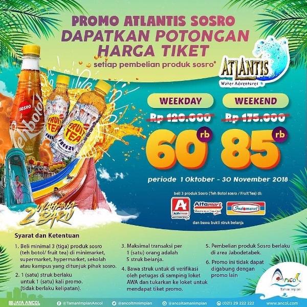 Atlantis Water Adventure Promo Sosro! HTM Mulai Dari Rp. 60.000 Selama Oktober