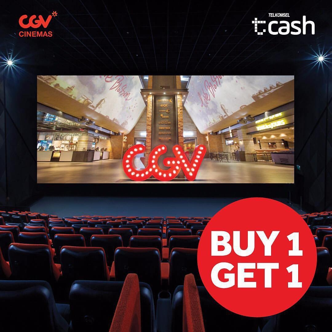 CGV Cinema Promo Tcash! Buy 1 Get 1 Free