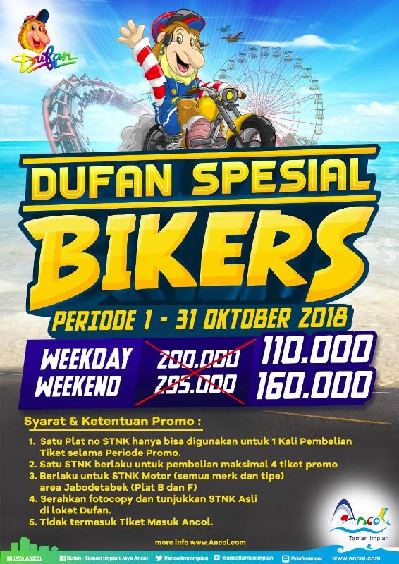 Ancol Dufan Promo Spesial Biker! Harga Spesial HTM Mulai Dari Rp. 110.000