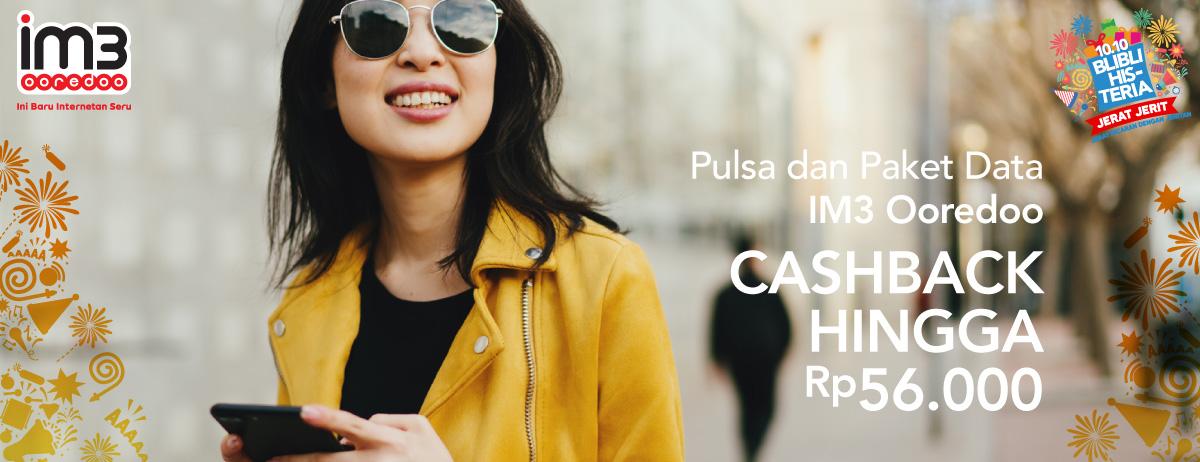 Blibli Promo Beli Pulsa & Paket Data IM3 Ooredoo, Cashback Hingga Rp 56 Ribu