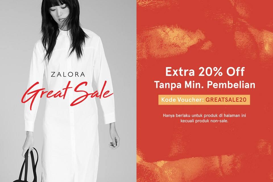 Zalora Promo Great Sale Extra! Harga Spesial + Diskon 20%