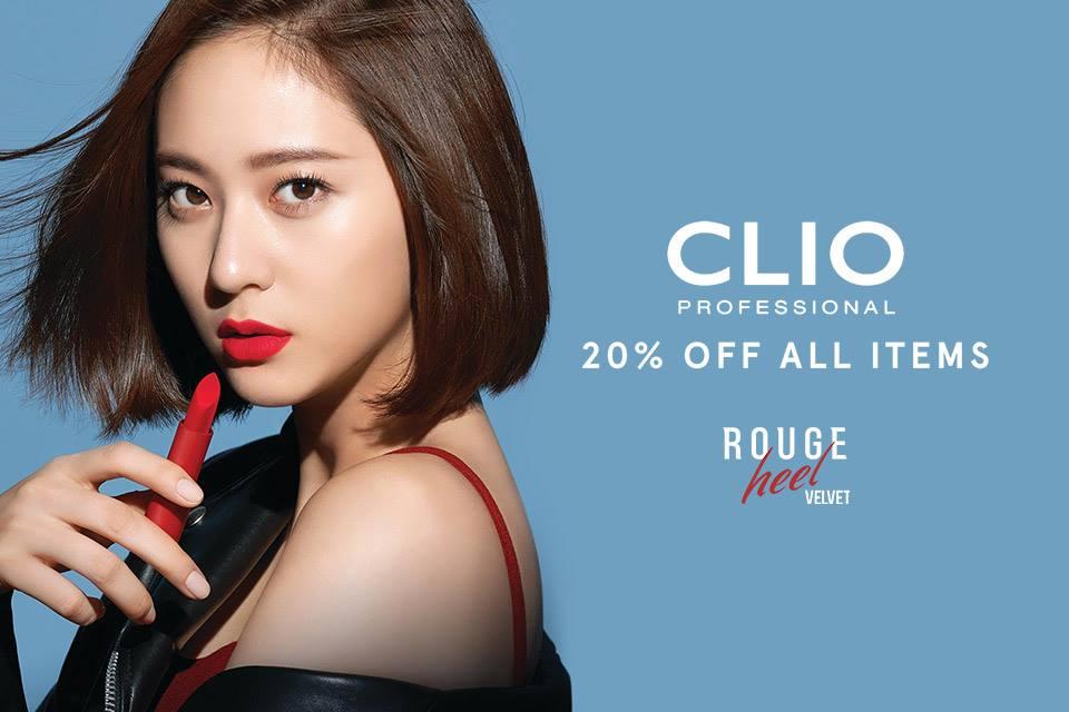 Zalora Promo Clio Professional! Diskon Spesial 20% + Free Pouch Exclusive!