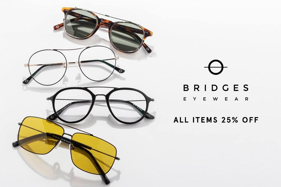 Zalora Promo Bridges Eyewear! Diskon Hingga 25% All Item!
