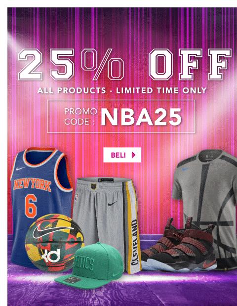 Blibli Promo NBA Store Sale! Diskon Ekstra 25%