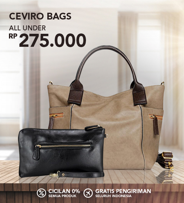 Blibli Promo Ceviro Bags Great Sale! Semua di Bawah Rp 275 Ribu