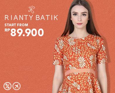 Blibli Promo Rianty Batik Sale, Harga Mulai dari Rp 89 Ribuan