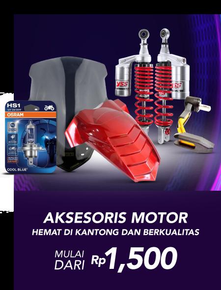 Blibli Promo Aksesoris Motor Termurah, Harga Mulai dari Rp 1.500