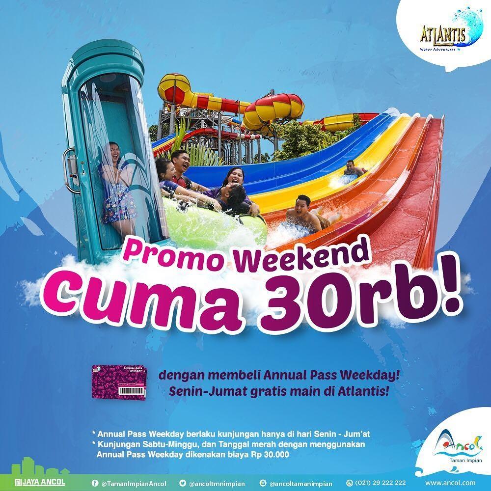 Atlantis Water Adventure Promo Annual Pass Weekday! Berenang Weekend Hanya Rp. 30.000