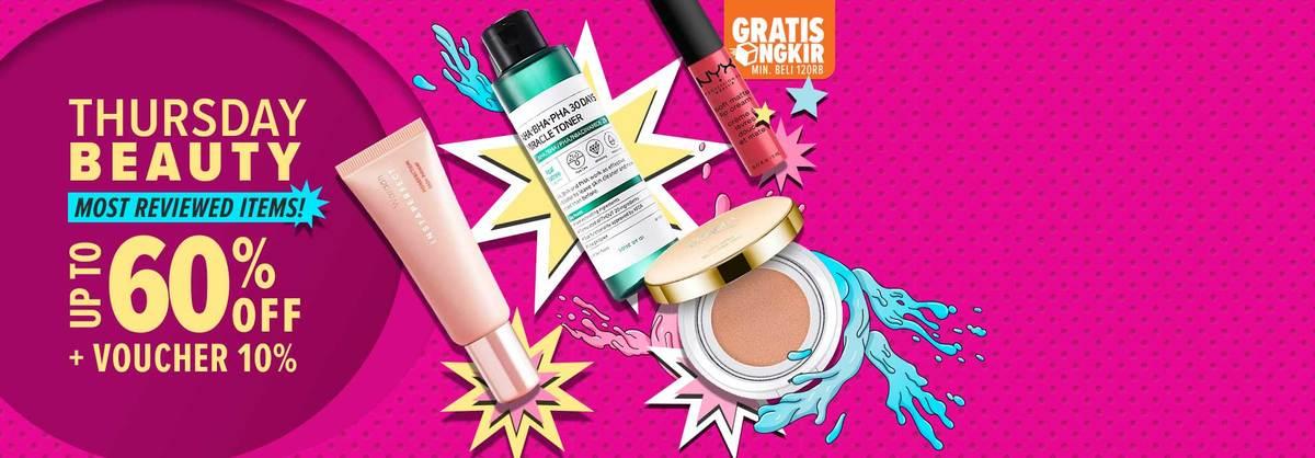 Lazada Promo Thursday Beauty Time, Diskon Hingga 60%