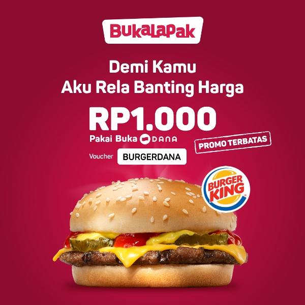 Burger King Promo HARGA SPESIAL Cheeseburger Hanya RP. 1.000!