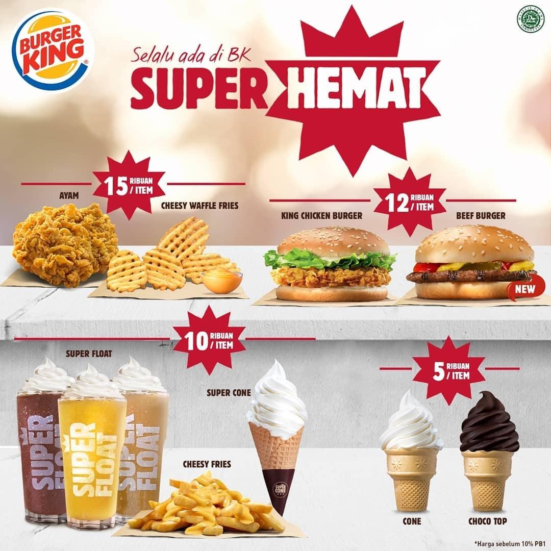 Burger King Promo Aneka Menu Hemat Mulai Dari Rp. 5 Ribuan