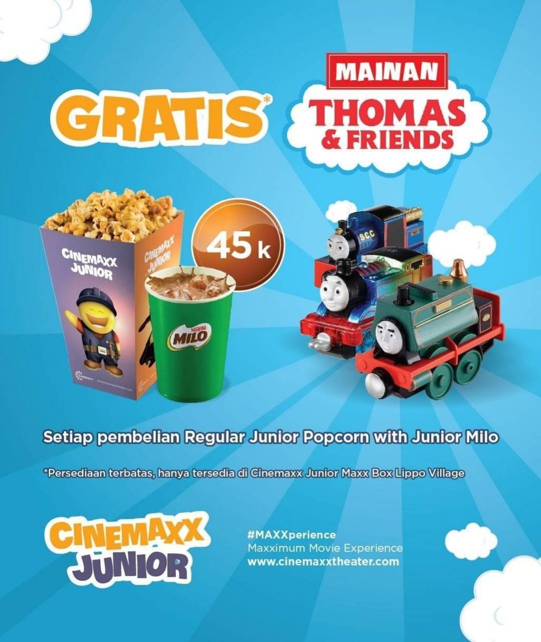 Cinemaxx Theater Promo Spesial Gratis Mainan Thomas & Friends
