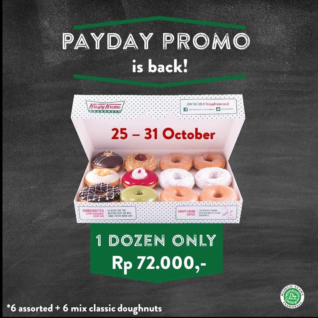 Krispy Kreme Promo Payday! Beli 1 Lusin CUMA Rp. 72 Ribu