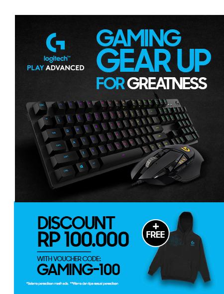 Blibli Promo Gaming Gear Dari Logitech, Diskon Rp 100 Ribu