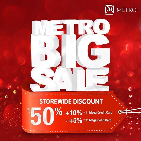 Metro Department Store Promo Metro Big Sale! Diskon 50% + 10%