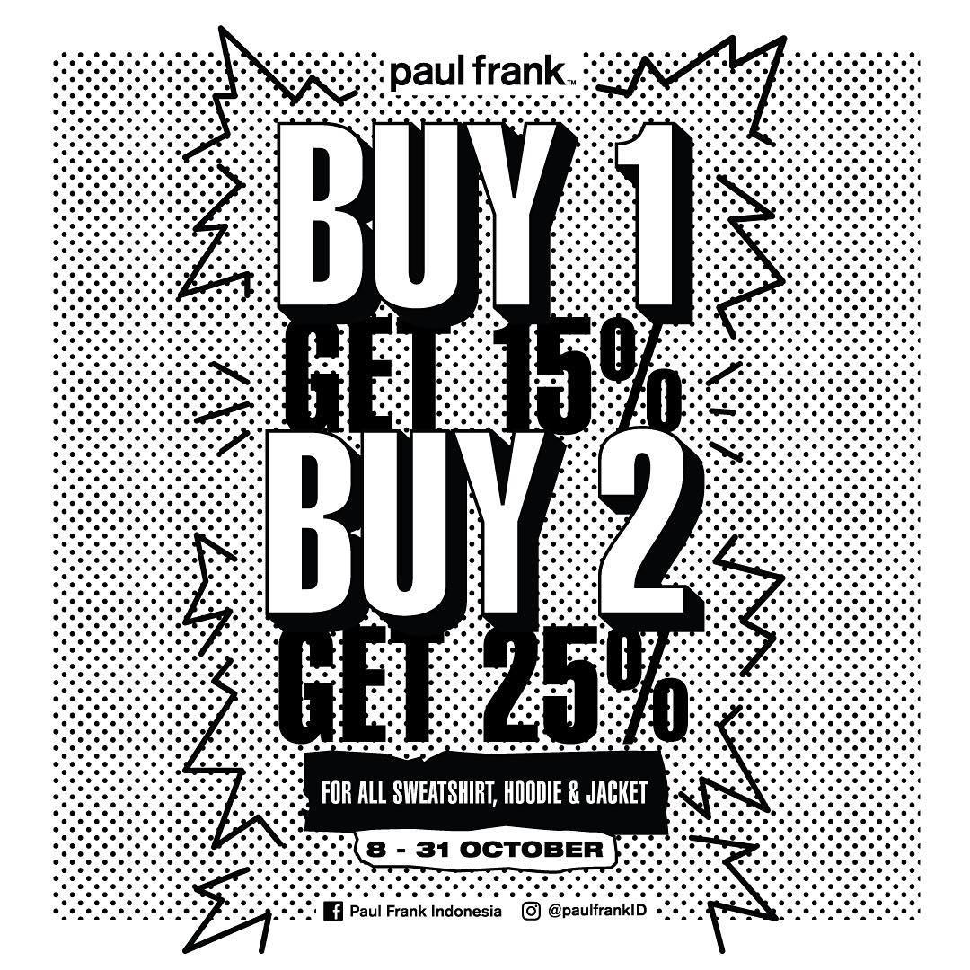 Paul Frank Big Sale! Belanja Hemat Dengan Diskon Hingga 25%