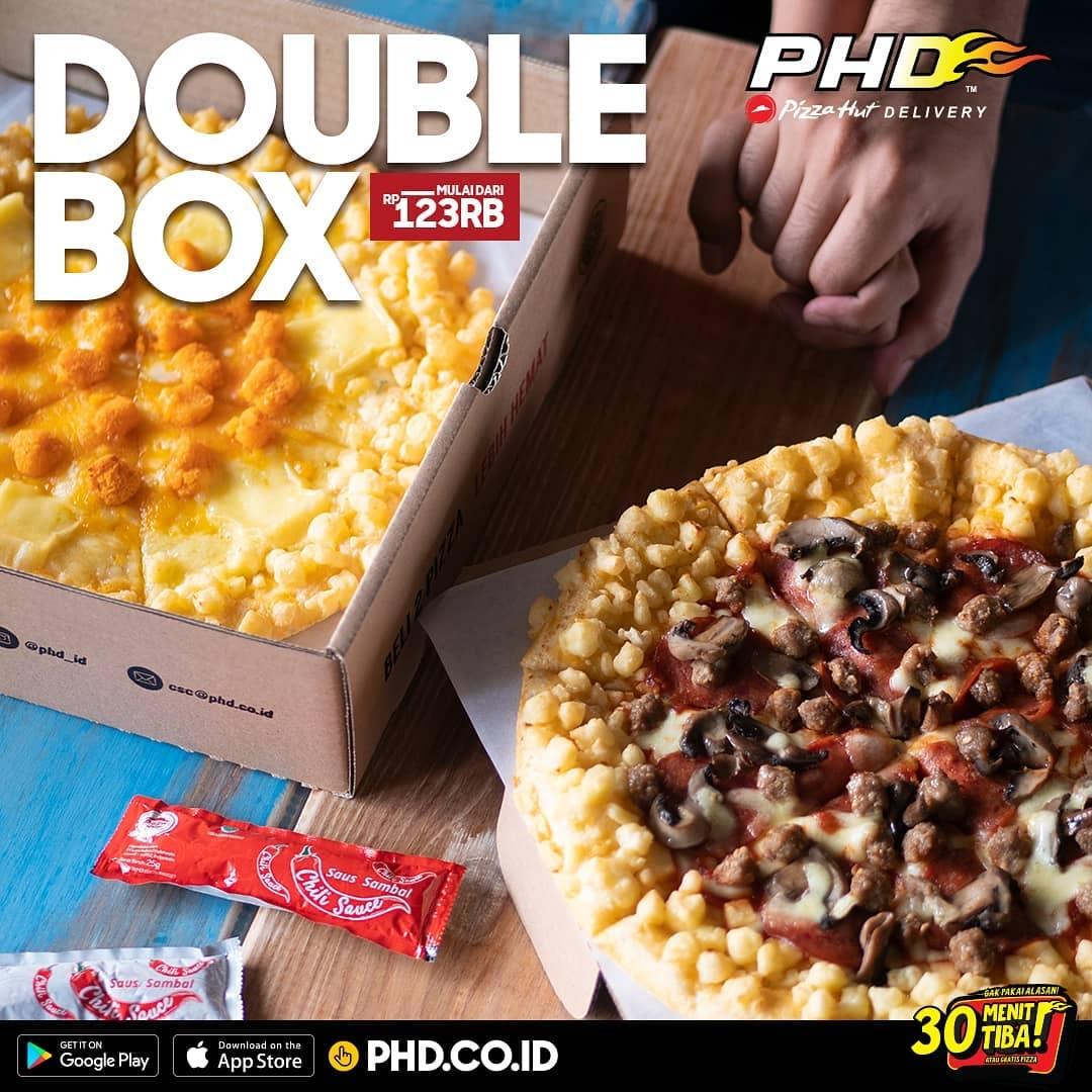 PHD Pizza Hut Delivery Promo Dobel Box! Harga Mulai Dari Rp. 123.000
