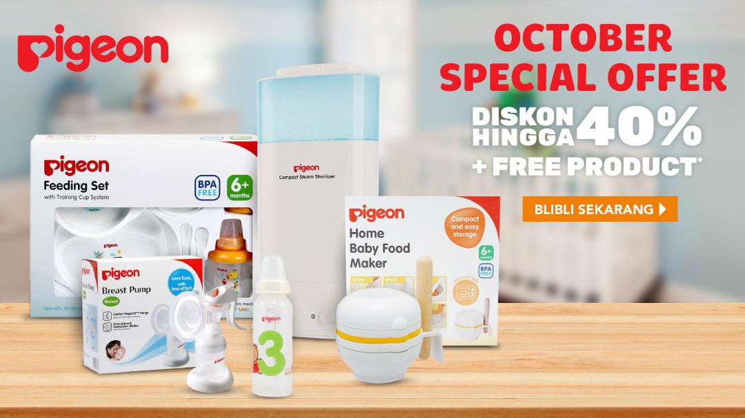 Blibli Promo Pigeon October Special Offer, Diskon Hingga 40%