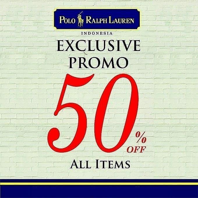 Polo Ralph Lauren Promo Spesial Belanja Lebih Hemat Dengan Diskon 50%