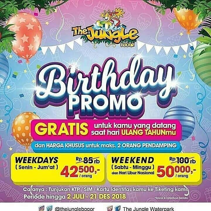 The Jungle Bogor Promo Birthday October! Berenang GRATIS Sepuasnya