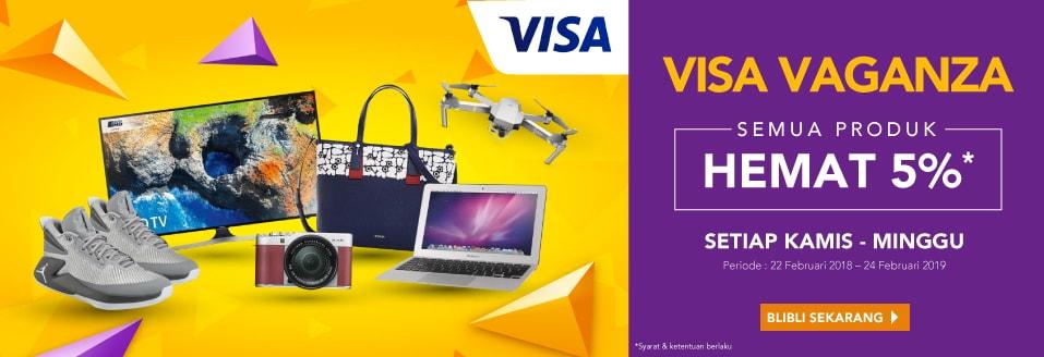 Blibli Promo Visa Vaganza, Diskon 5%
