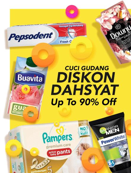 Blibli Promo Cuci Gudang Bliblimart, Diskon Hingga 90%
