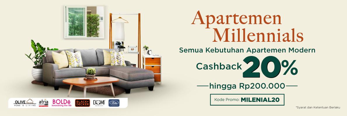Tokopedia Promo Kebutuhan Apartemen, Cashback 20%