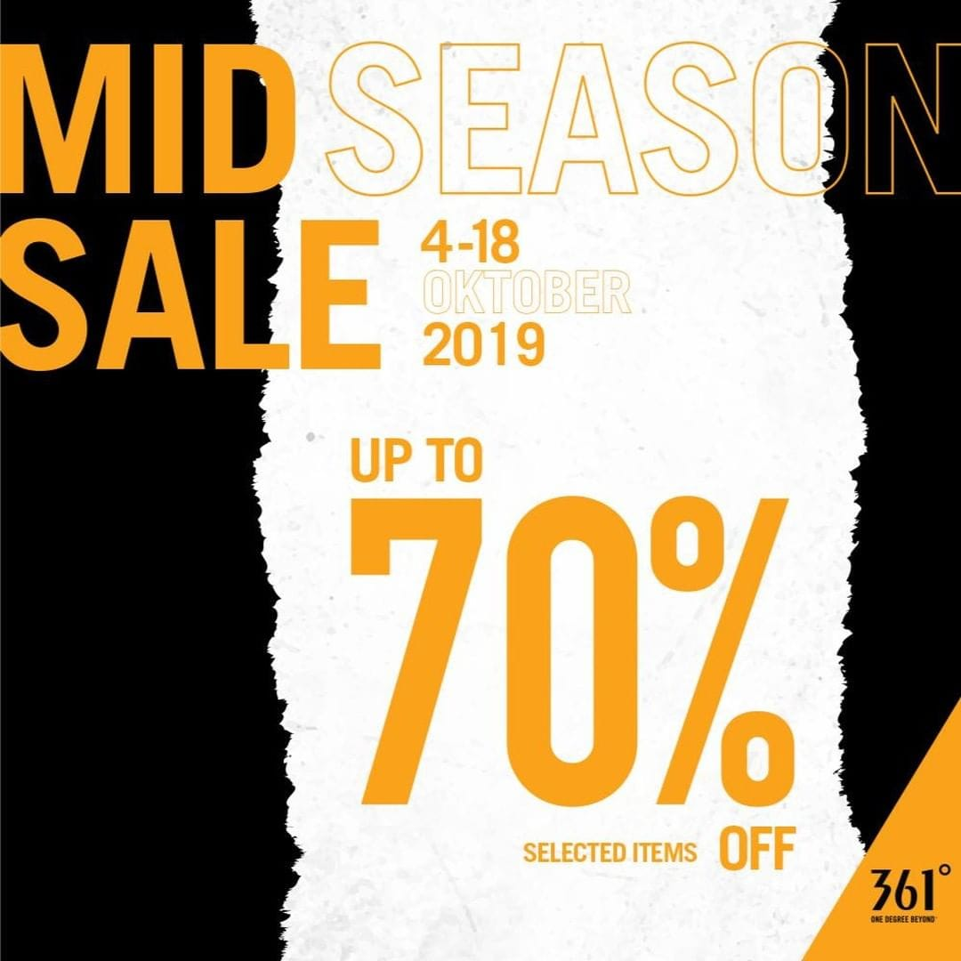 361 Shoes Promo Spesial Mid Season Sale, Diskon Hingga 70%!