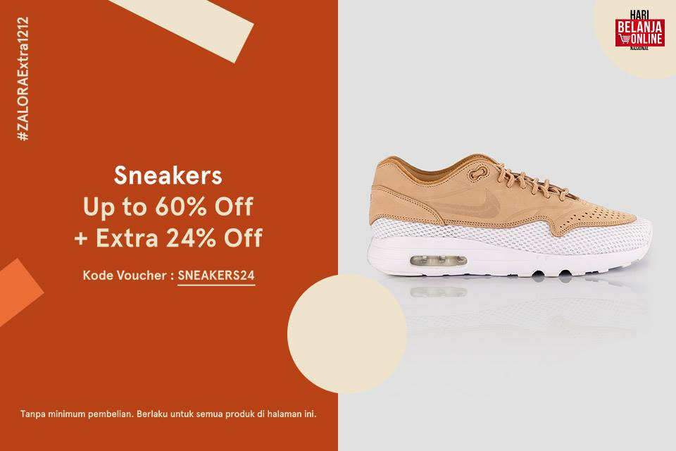 Zalora Promo Koleksi Sneakers Terbaik! Diskon Spesial Hingga 60% + Extra 24%!