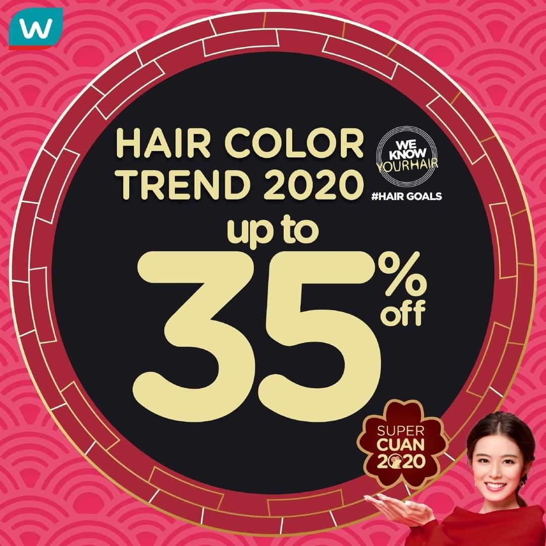 Watsons Promo Super Cuan 2020, Perawatan Rambut Diskon Hingga 35%!