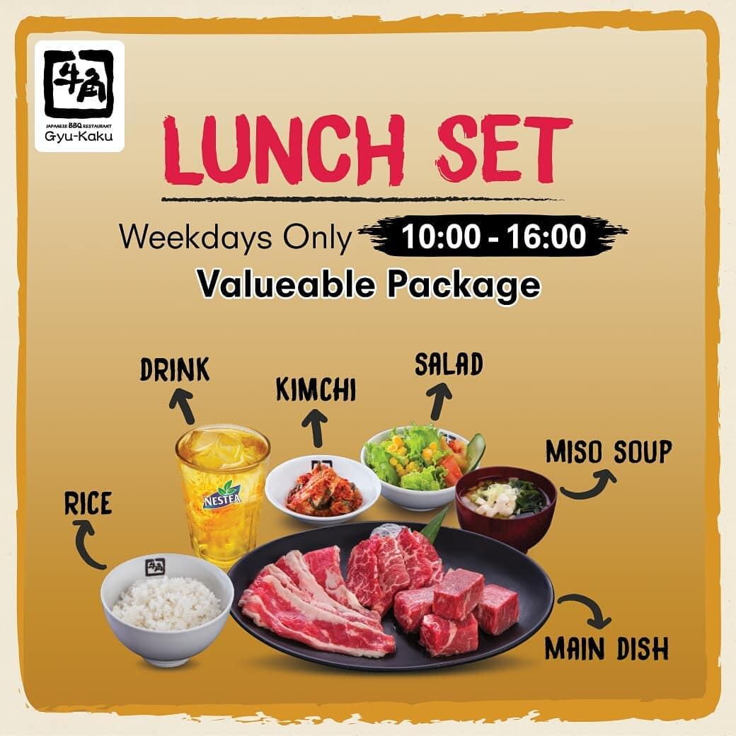 Gyukaku Promo Spesial Lunch Set, Mulai dari Rp. 53 Ribu++!