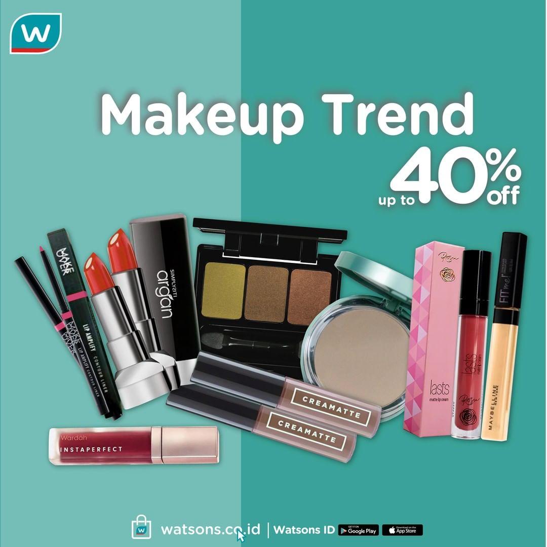 Watsons Promo Makeup Trend 2020, Diskon Hingga 40%!