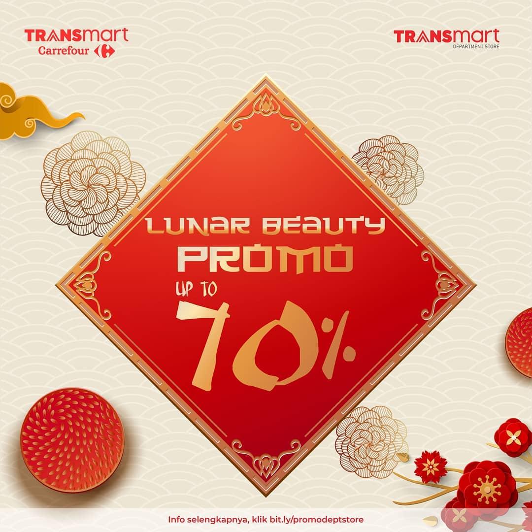 Transmart Carrefour Promo Lunar Beauty, Kosmetik Diskon Hingga 70%!