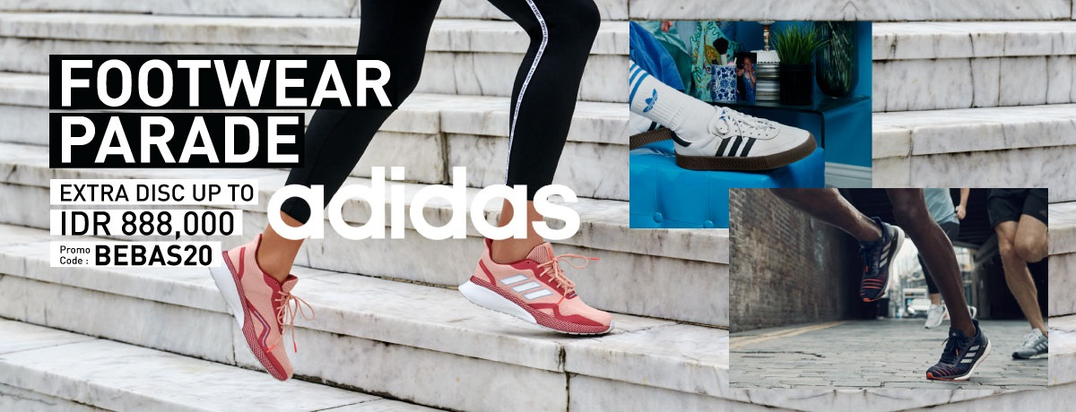 Blibli Promo Adidas Footwear, Ekstra Diskon Hingga Rp 888.000