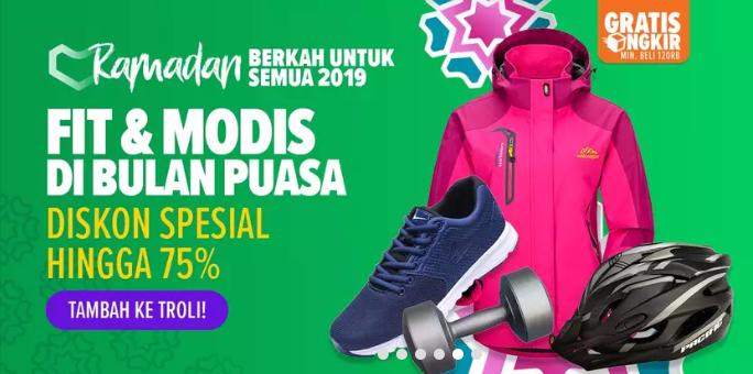 Lazada Promo Perlengkapan Olahraga Spesial Ramadhan, Diskon Hingga 75%