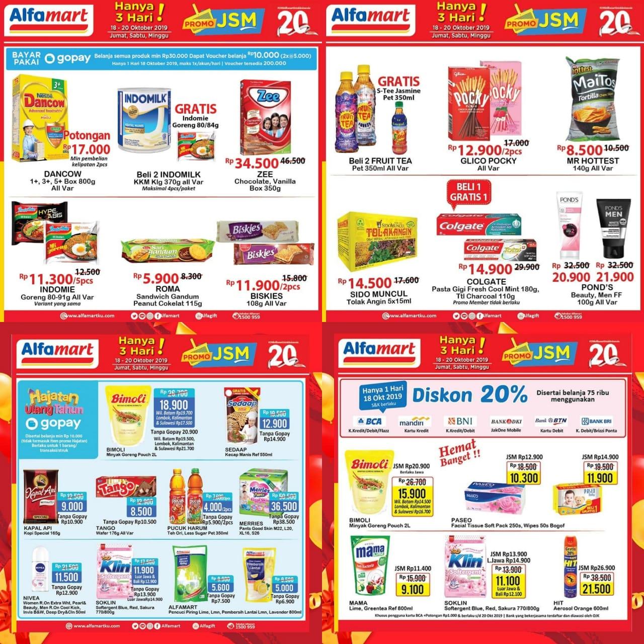 Katalog Promo JSM Alfamart Periode 18-20 Oktober 2019
