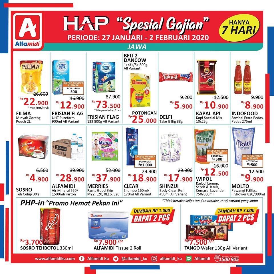 Katalog Promo Spesial HAP Spesial Gajian Periode 27 Januari - 2 Februari 2020