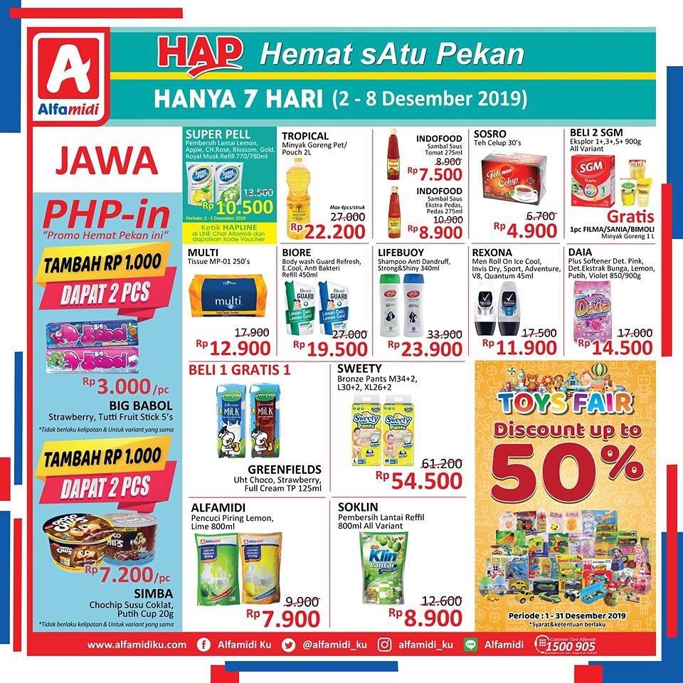 Katalog Promo Hemat 1 Pekan Alfamidi Periode 2-8 Desember 2019