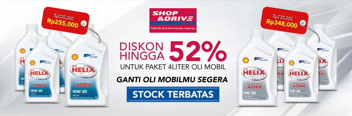 Blibli Oli Shop & Drive Big Sale, DISKON Hingga 52%
