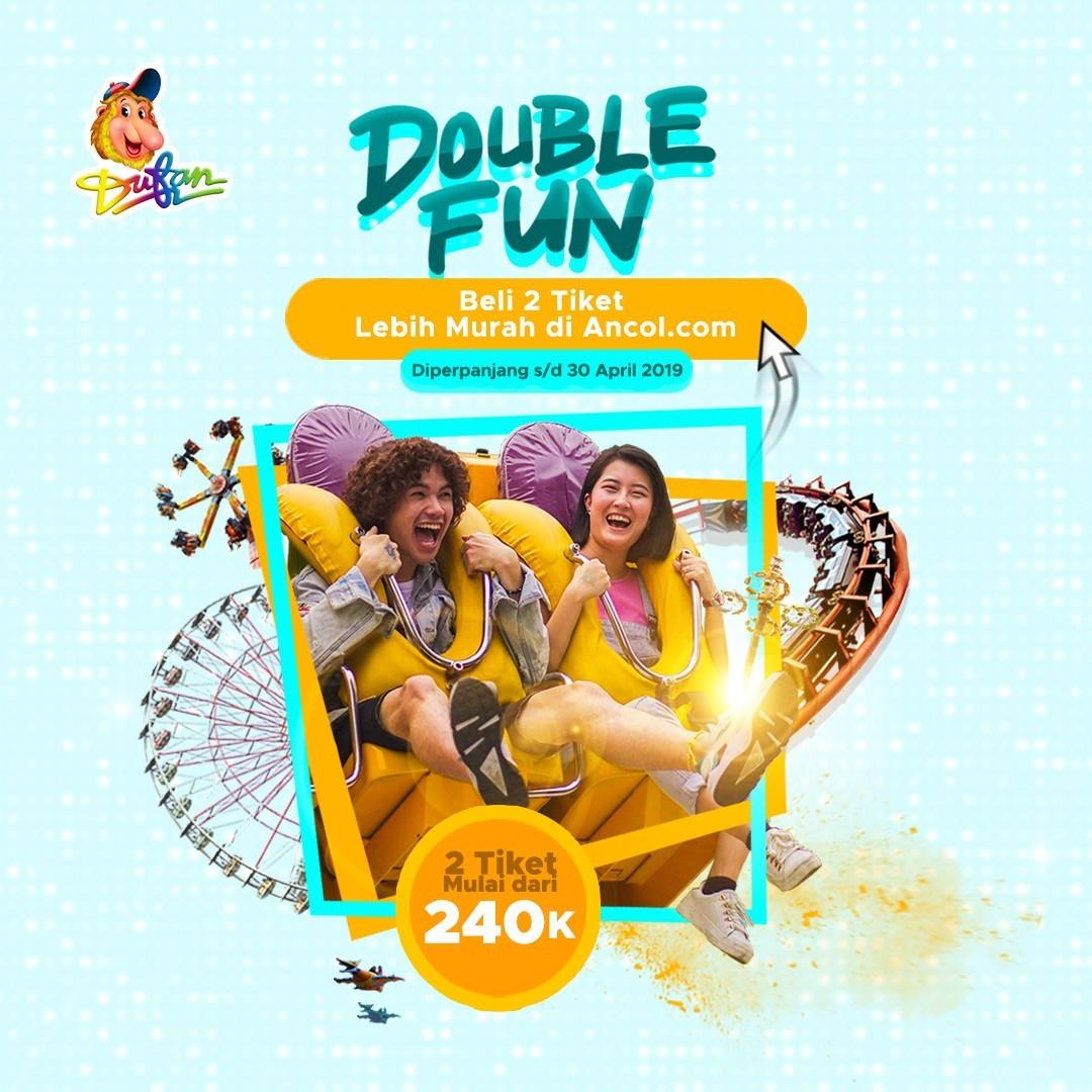 Dufan Promo Paket Liburan Hemat Berdua Mulai Dari Rp. 240.000 (Double Fun)