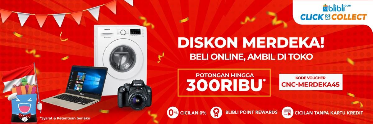 Blibli Promo Click & Collect, Diskon Merdeka Hingga Rp 300.000