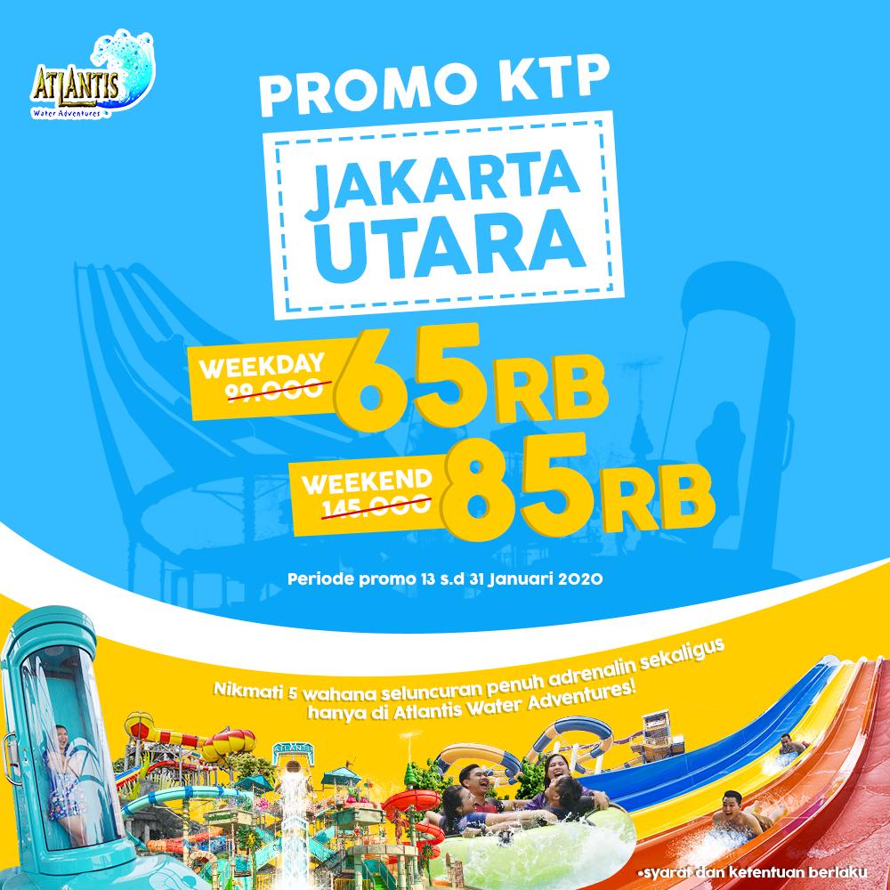 Atlantis Water Adventure Promo KTP Jakarta Utara, HTM Mulai Rp. 65.000!