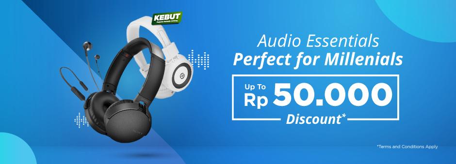 Tokopedia Promo Audio Essentials! Diskon Hingga Rp 50 Ribu